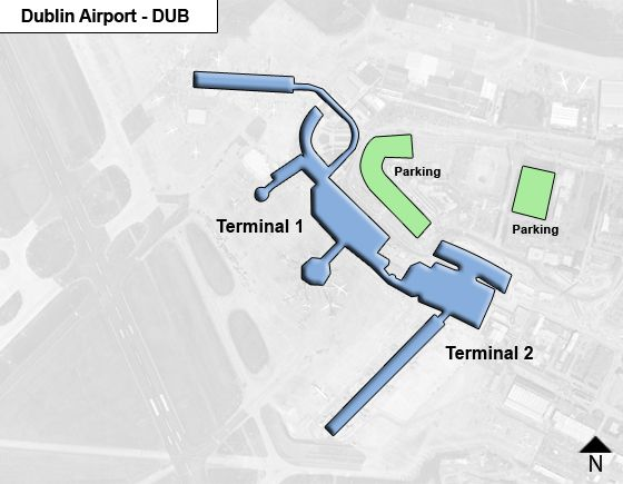 Dublin Airport Map Dublin DUB Airport Terminal Map
