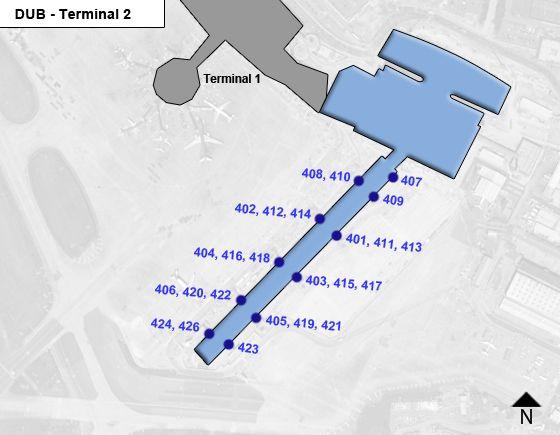 Dublin DUB Terminal Map