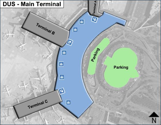 Dusseldorf, WF Airport Main Terminal Map