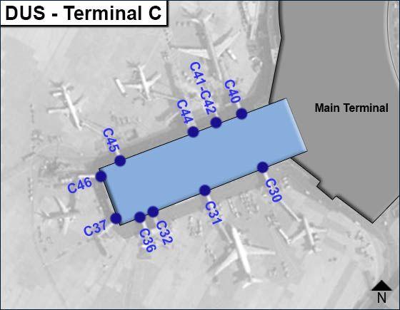 Dusseldorf, WF Airport Terminal C Map