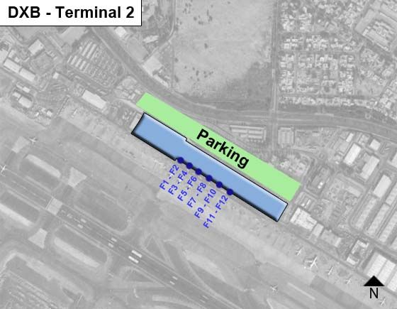 Dubai International DXB Terminal Map
