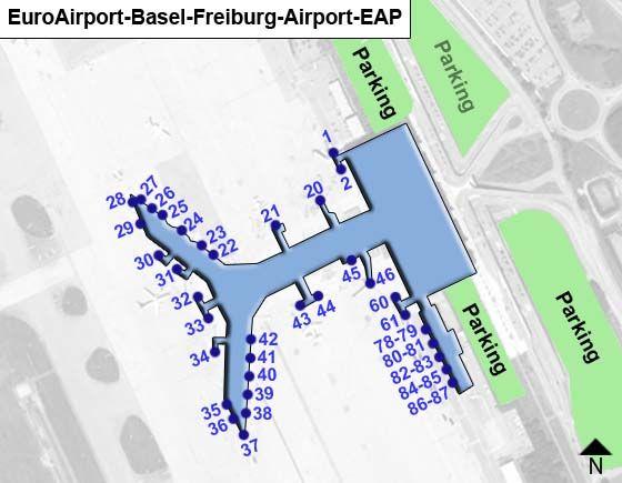 Saint-Louis Cedex Airport Overview Map