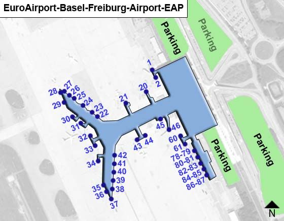 EuroAirport Basel Freiburg EAP Terminal Map