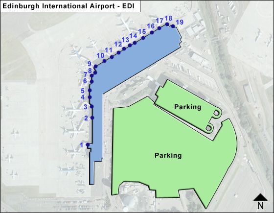Edinburgh EDI Terminal Map