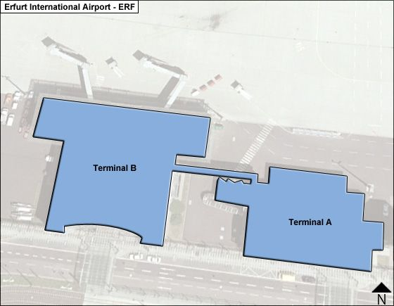 Erfurt, Thuringia Airport Overview Map