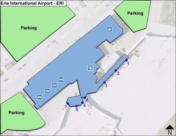 Erie ERI Terminal Map
