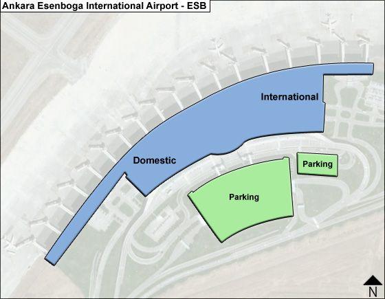 Ankara Esenboga ESB Terminal Map