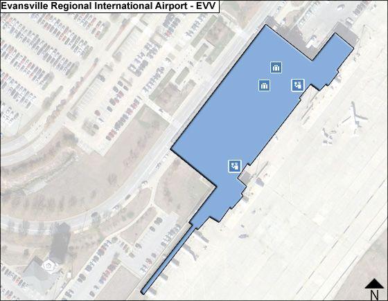Evansville Regional EVV Terminal Map