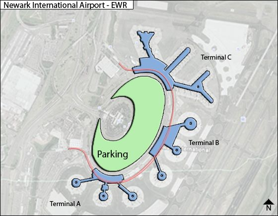 Newark Liberty Ewr Airport Terminal Map