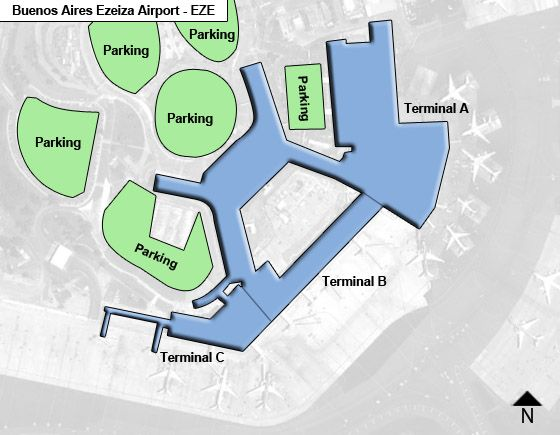 Buenos Aires Ezeiza EZE Terminal Map