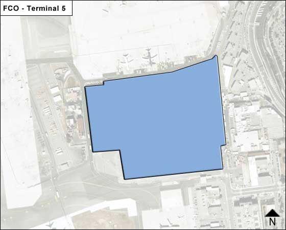 Rome Leonardo da Vinci FCO Terminal Map