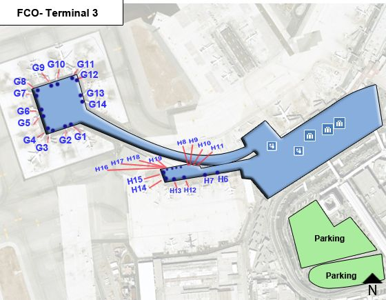 Fiumicino Airport Terminal 3 Map