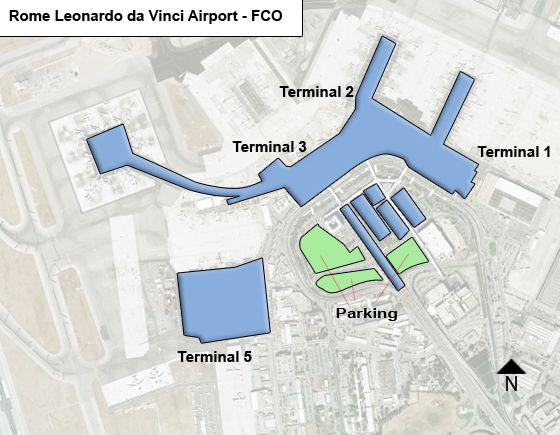 Rome Leonardo da Vinci FCO Airport Terminal Map