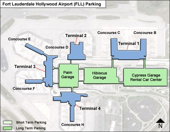 Fort Lauderdale Hollywood FLL airport parking map