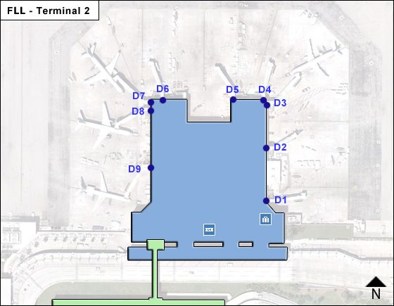 Fort Lauderdale Hollywood FLL Terminal Map