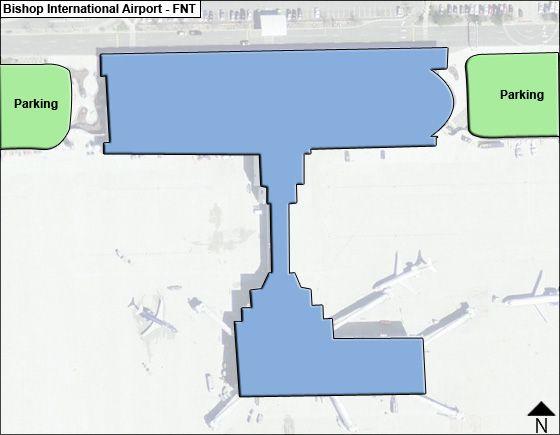 Flint Airport Overview Map