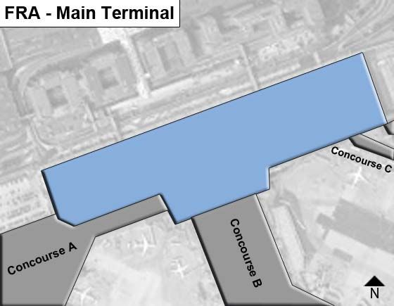 Frankfurt am Main Airport Main Terminal Map