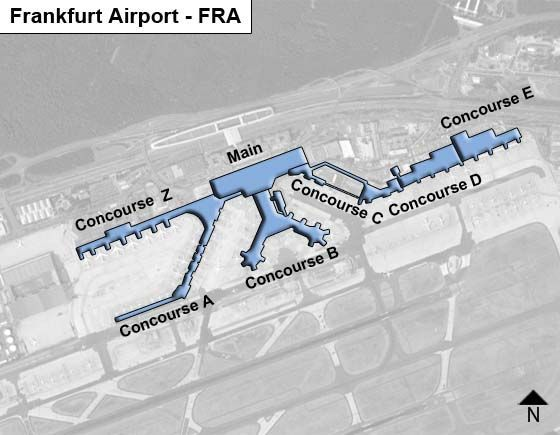 Frankfurt am Main Airport Overview Map