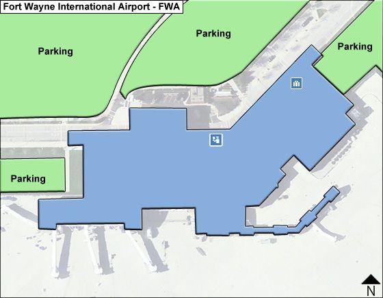 Fort Wayne FWA Airport Terminal Map