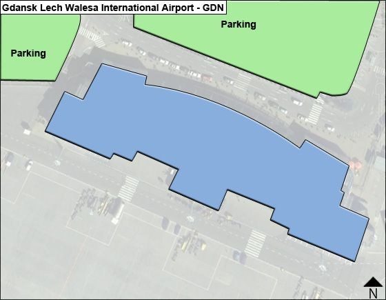 Gdansk Lech Walesa GDN Terminal Map