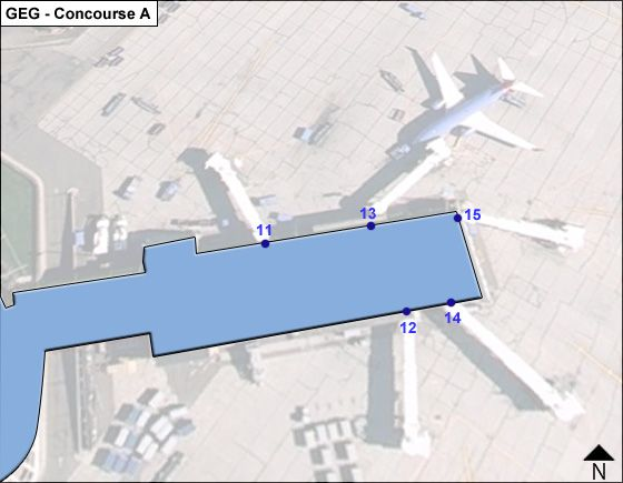Spokane Airport Concourse A Map