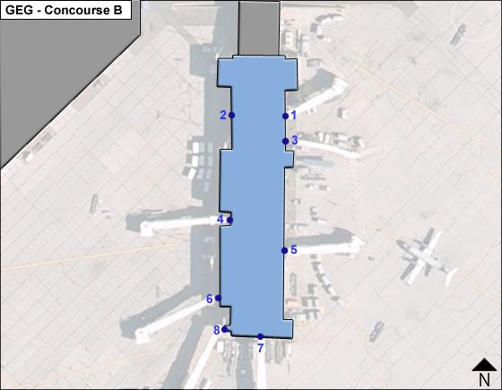 Spokane Airport Concourse B Map