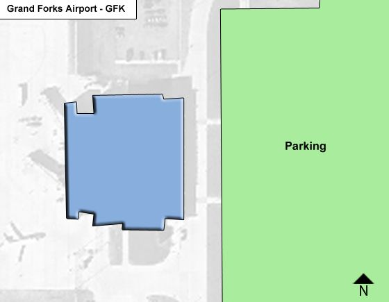 Grand Forks Airport Overview Map