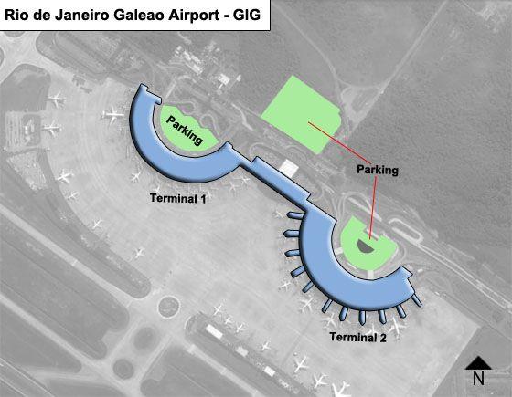 Rio de Janeiro Galeao GIG Terminal Map