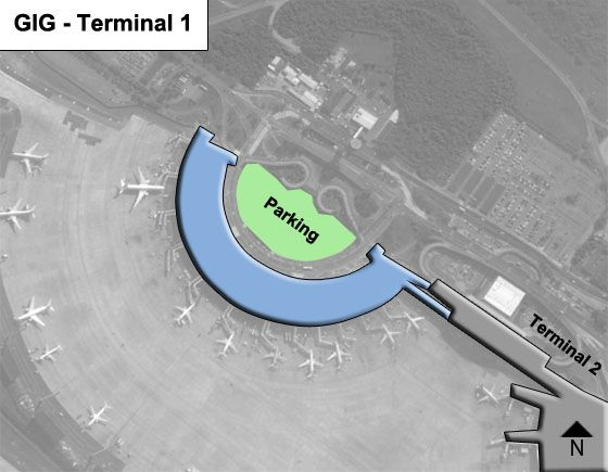 Ilha do Governador, RJ Airport Terminal 1 Map