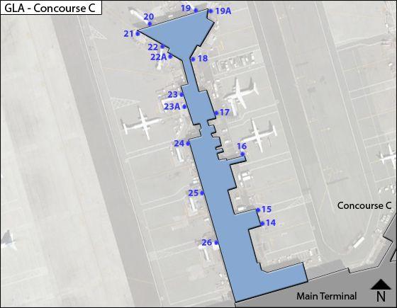 Paisley, Renfrewshire Airport Concourse C Map