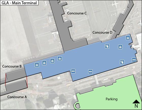 Paisley, Renfrewshire Airport Main Terminal Map