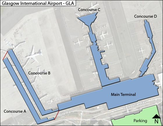 Glasgow GLA Terminal Map