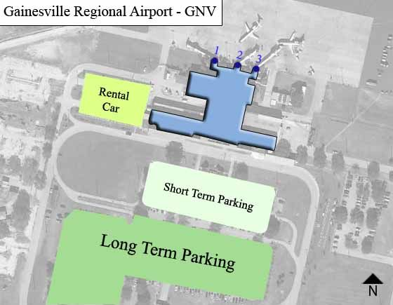 Gainesville Airport Overview Map
