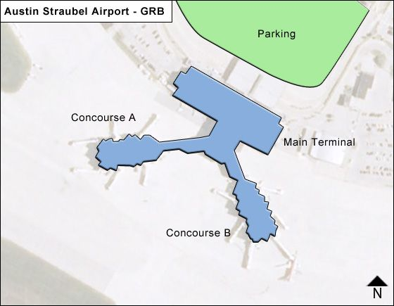 Green Bay Airport Overview Map