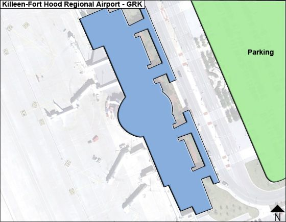 Killeen-Fort Hood Regional GRK Terminal Map