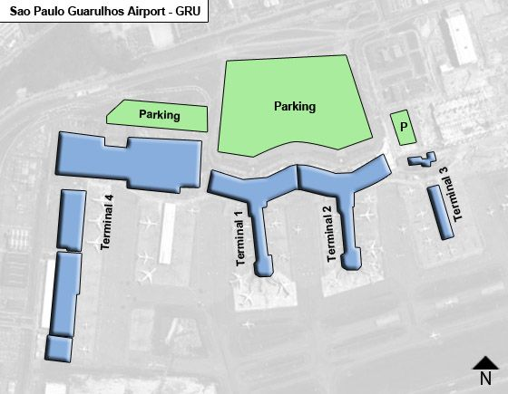 Guarulhos, Cumbica District Airport Overview Map