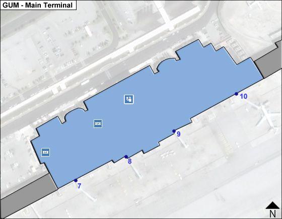 Hagatna, Mariana Islands Airport Main Terminal Map