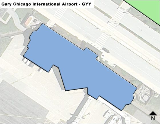 Gary Chicago GYY Terminal Map