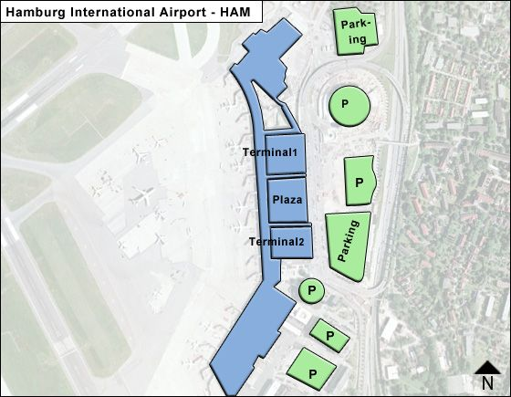 Hamburg - North District Airport Overview Map