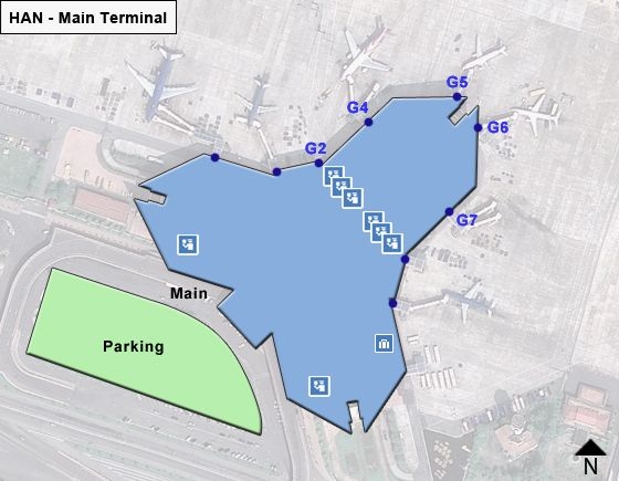 Hanoi Airport Main Terminal Map