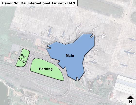 Hanoi Noi Bai HAN Terminal Map