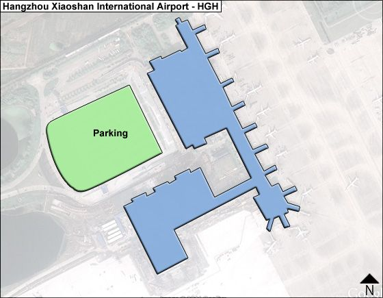Xiaoshan, Hangzhou, Zhejiang Airport Overview Map