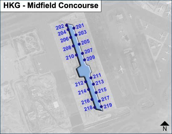 Lantau, Hong Kong Airport Midfield Concourse Map