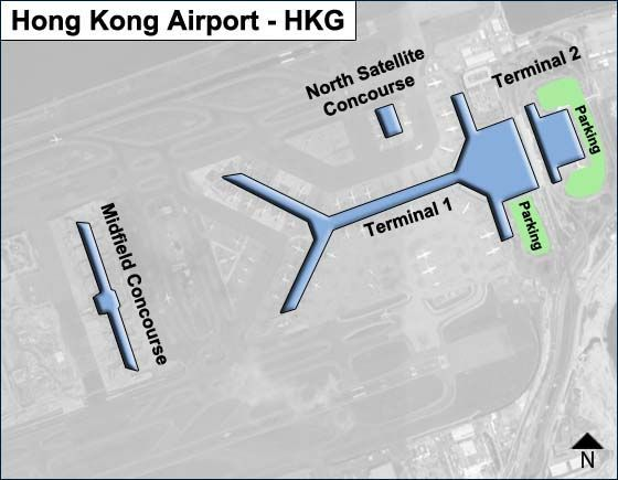 Hong Kong HKG Airport Terminal Map
