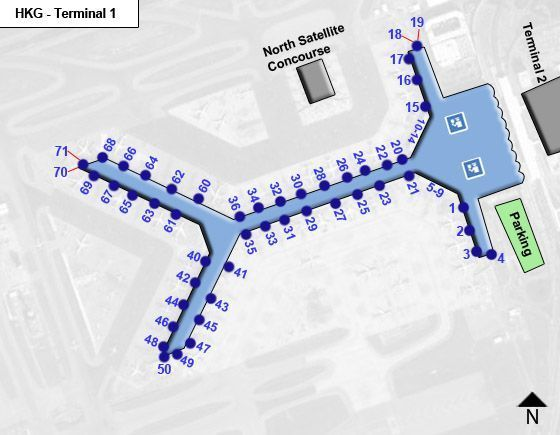 Hong Kong Airport Terminal 1 Map Overview