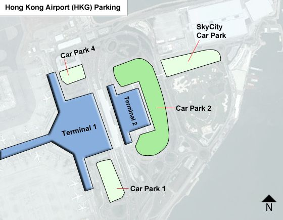 Hong Kong HKG airport parking map