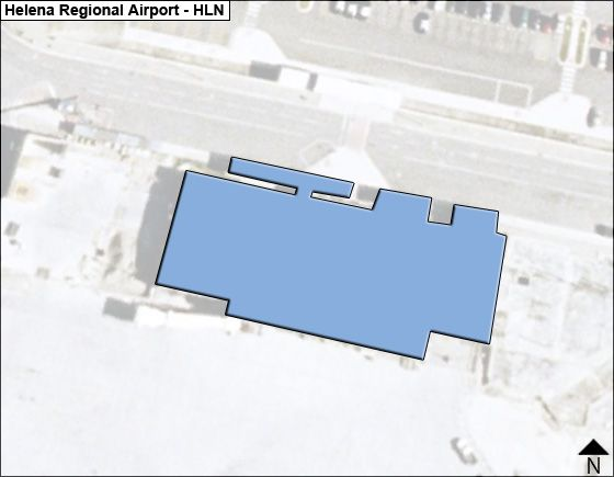 Helena Airport Overview Map