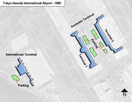 Tokyo Haneda HND Terminal Map