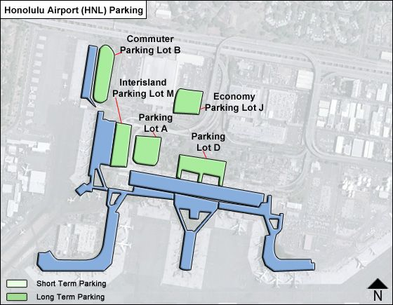 Honolulu HNL airport parking map
