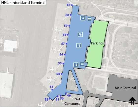 Honolulu HNL Terminal Map